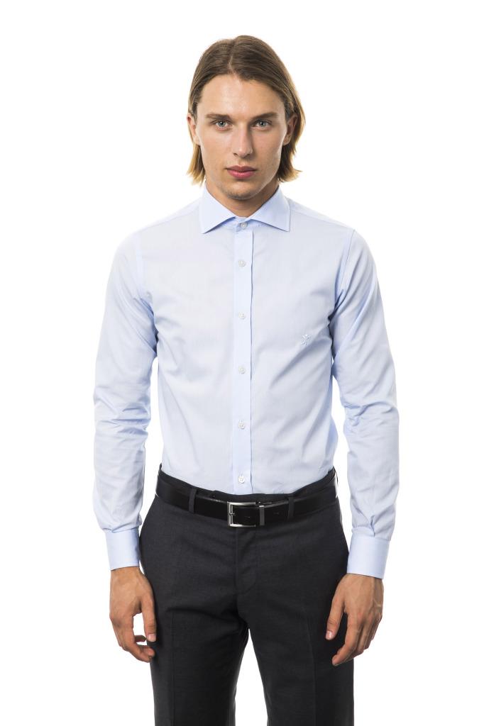 Camicia Venezia Collo Italiano Azzurro