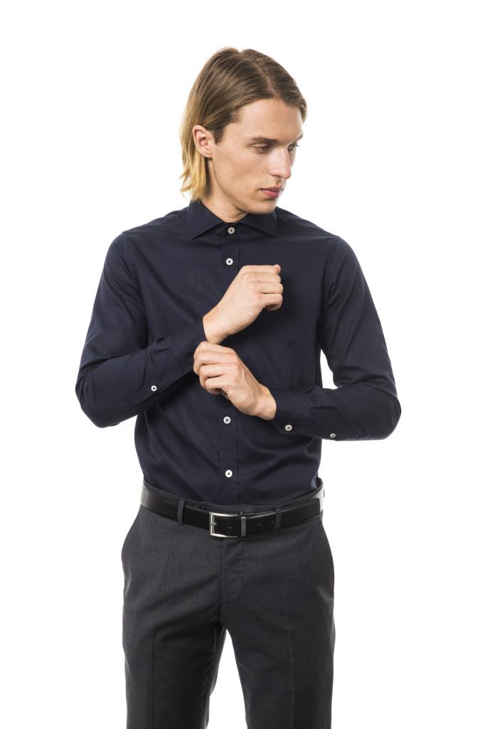 Camicia Capri Collo Francese Blu