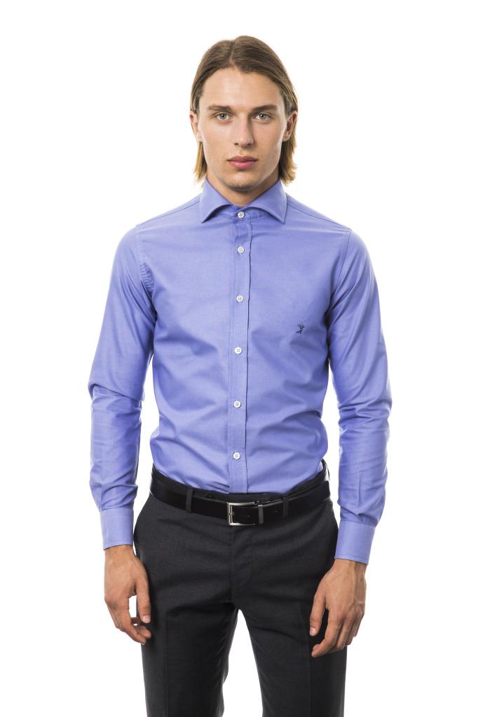 Camicia Capri Collo Francese Azzurro Oxford